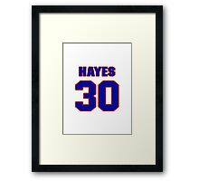 National football player Chris Hayes jersey 30 Framed Print