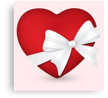 Valentine Red Heart Canvas Print