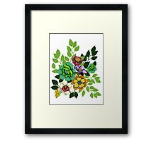 Flower Hand drawn Print Framed Print