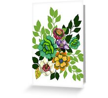 Flower print Greeting Card