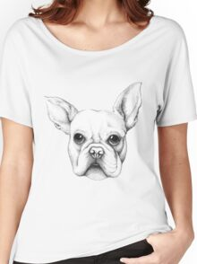 Cute Frenchie Pug Women's Relaxed Fit T-Shirt