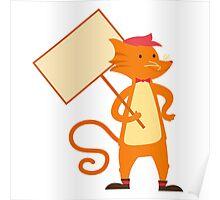 Cute cartoon tomcat Poster