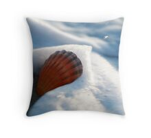 Fan Shell In Surf, Seven Mile Beach, Tasmania Throw Pillow