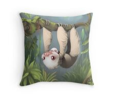 Sloth with Baby Throw Pillow