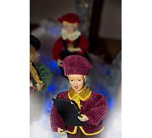 Christmas Carolers Photographic Print