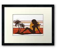 Queen of the Monsters - 50 FT Woman Framed Print