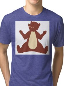 Cute brown cartoon bear Tri-blend T-Shirt