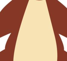 Cute brown cartoon bear Sticker