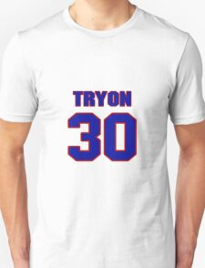 National football player Justin Tryon jersey 30 T-Shirt