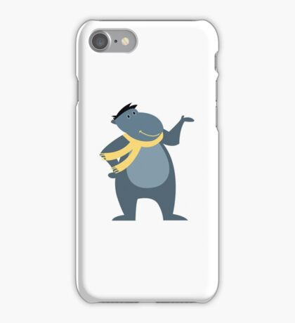 Funny cartoon hippo iPhone Case/Skin
