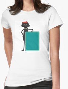 Funny black cartoon cat T-Shirt