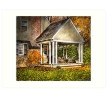 A side porch Art Print