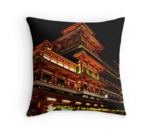 Red Temple Throw Pillow