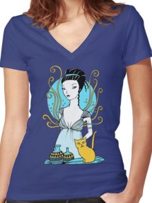 Aphrodite Tee Women's Fitted V-Neck T-Shirt