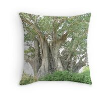 Baobab Tree Throw Pillow