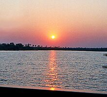 Sunset Over The Zambezi From The African Queen by AARDVARK