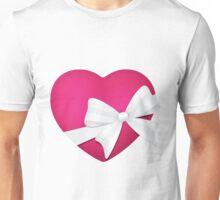 Valentine Pink Heart Sticker Unisex T-Shirt