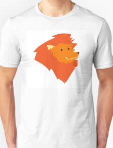 Funny smiling head of a cartoon lion  Unisex T-Shirt