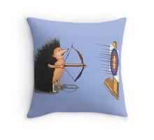 Hedgehog archery Throw Pillow