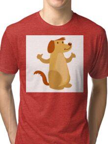 Little funny cartoon dog Tri-blend T-Shirt