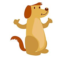 Little funny cartoon dog Photographic Print