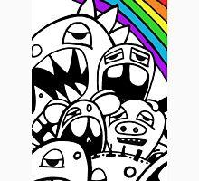 Monster Rainbow black and white Unisex T-Shirt