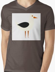 Funny cartoon seagull Mens V-Neck T-Shirt