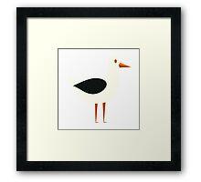 Funny cartoon seagull Framed Print
