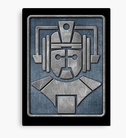 Cyberman Logo Canvas Print