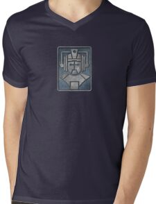 Cyberman Logo Mens V-Neck T-Shirt