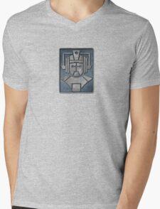 Cyberman Logo Mens V-Neck T-Shirt
