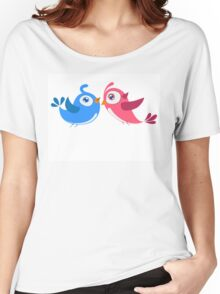 Two cartoon birds in love Women's Relaxed Fit T-Shirt