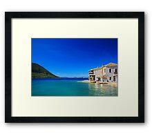 The magic of the Ionian sea - Mytikas Framed Print