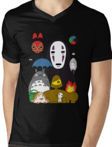 Ghibli mix Mens V-Neck T-Shirt