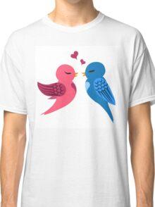 Two cartoon birds in love Classic T-Shirt
