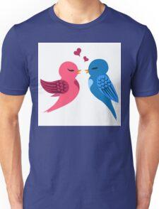Two cartoon birds in love Unisex T-Shirt