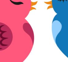 Two cartoon birds in love Sticker