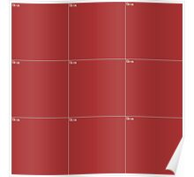 Red Wall Texture 3x3 Poster