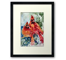 Cardinal birds Framed Print