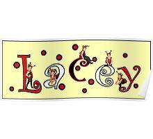 Ladybug Custom Name Art - Lacey Poster