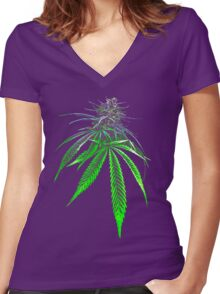 The Bud Women's Fitted V-Neck T-Shirt