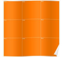 Orange Wall Texture 3x3 Poster