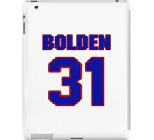 National football player Omar Bolden jersey 31 iPad Case/Skin