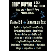 Andy Dwyer Rock Festival Photographic Print