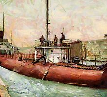 """""""Whaleback"""" Poe Lock, Sault Ste. Marie, Michigan - all products by Dennis Melling"""