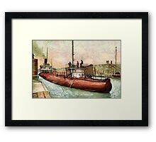 """""""Whaleback"""" Poe Lock, Sault Ste. Marie, Michigan - all products Framed Print"""