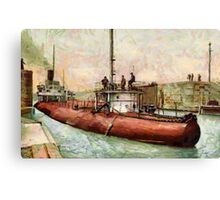 """Whaleback"" Poe Lock, Sault Ste. Marie, Michigan - all products Canvas Print"