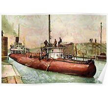 """""""Whaleback"""" Poe Lock, Sault Ste. Marie, Michigan - all products Poster"""
