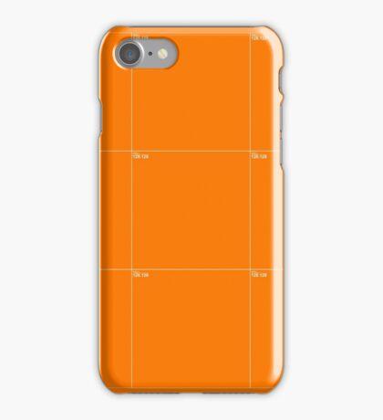 Orange Wall Texture 3x3 iPhone Case/Skin
