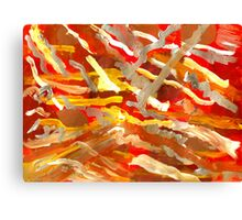 Fingerpainting Abstract Five Canvas Print